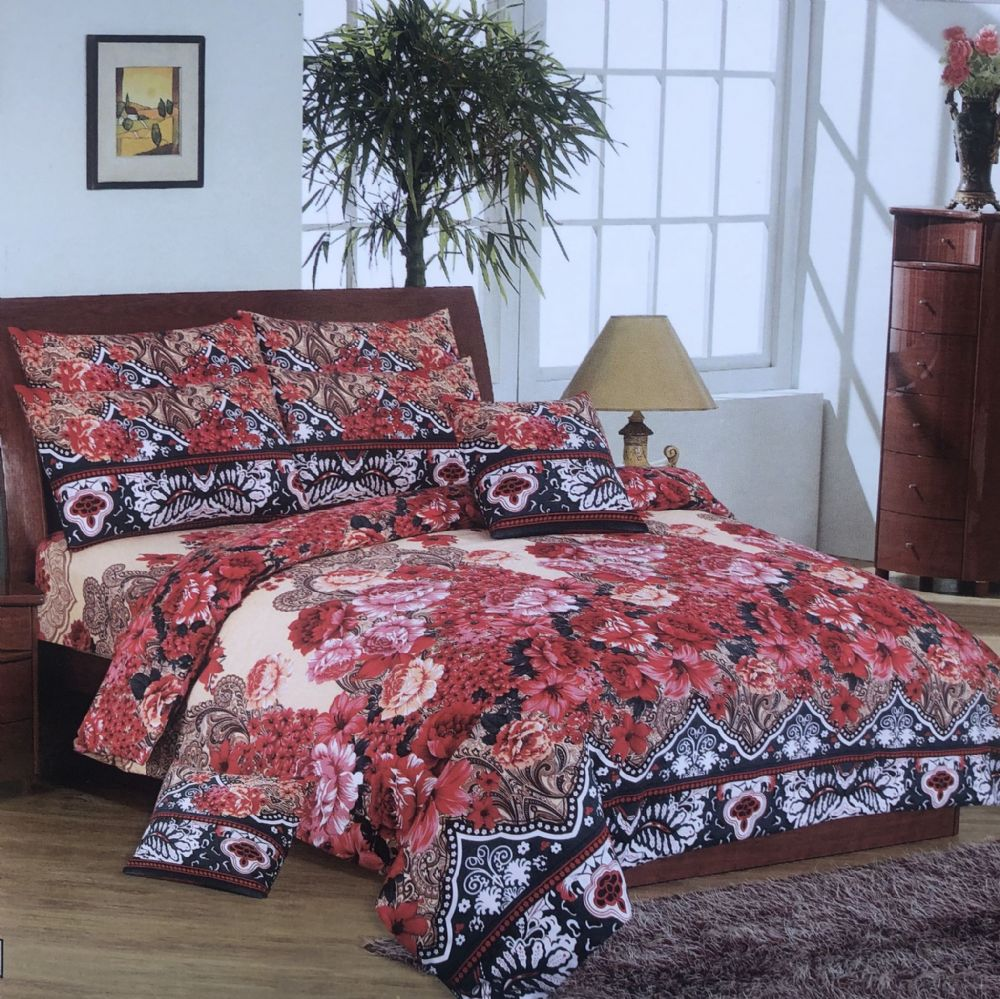 Elegant Lovely Flower Egyptian Cotton Complete Duvet Set